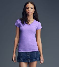 49 380VL Women's Lightweight Fitted V-Neck Tee