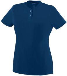 Augusta Sportswear 1213 Girls' Wicking Two-Button Jersey