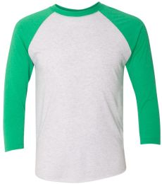 Next Level 6051 Unisex Tri-Blend 3/4 Sleeve Raglan