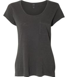 Alternative 12412 Women's Washed Slub Favorite Pocket T-Shirt