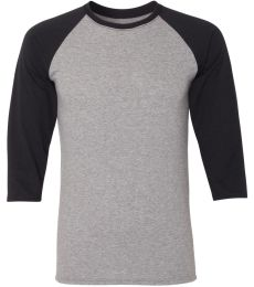 Jerzees 601RR Dri-Power Active Triblend Baseball Raglan T-Shirt