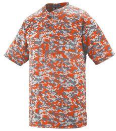 Augusta Sportswear 1555 Digi Camo Wicking Two-Button Jersey