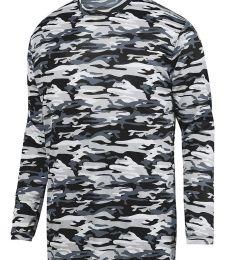 Augusta Sportswear 1808 Youth Mod Camo Long Sleeve Wicking Tee