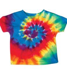 Dyenomite 20TMS Toddler Spiral Tie Dye T-Shirt