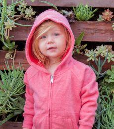 Independent Trading Co. PRM10TSBZ Toddler Lightweight Special Blend Raglan Zip Hood