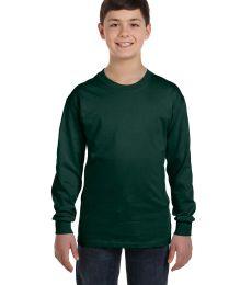 Hanes Youth Tagless 100 Cotton Long Sleeve T Shirt 5546