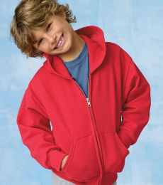 P480 Hanes® PrintPro®XP™ Comfortblend® Youth Hooded Full Zip Sweatshirt