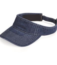 Mega Cap 4029 Washed Denim Visor
