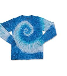 Dyenomite 24BRP Youth Ripple Tie Dye Long Sleeve
