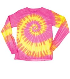 Dyenomite 24BWA Youth Wave Tie Dye Long Sleeve