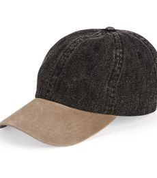 Mega Cap 7611 Washed Denim With Suede Bill Cap