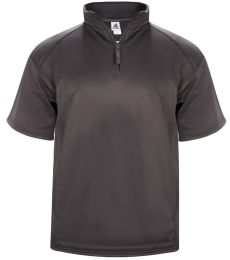 Badger Sportswear 1482 Poly Fleece Short Sleeve Quarter-Zip
