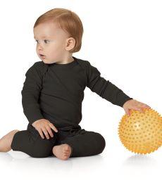 Rabbit Skins 4412 Infant Long Legged Baby Rib Bodysuit
