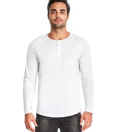 184 6072 Tri-Blend Long Sleeve Henley