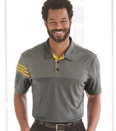 Adidas A213 Heather 3-Stripes Block Sport Shirt