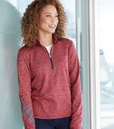 Adidas A285 Women's Brushed Terry Heather Quarter-Zip