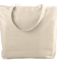 Augusta Sportswear 611 Canvas Zipper Tote
