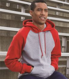 Russel Athletic 693HBM Dri Power® Colorblock Raglan Hooded Sweatshirt