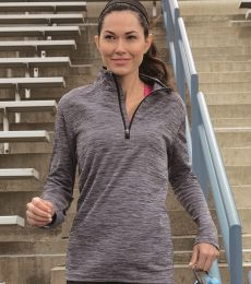 Russel Athletic QZ7EAX Women's Striated Quarter-Zip Pullover