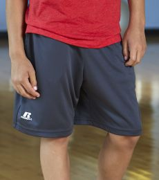 """Russel Athletic TS7X2B Youth 7"""" Essential Pocketed Shorts"""