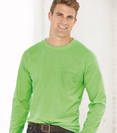 8100 Bayside Adult Long-Sleeve Cotton Tee with Pocket
