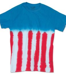 Dyenomite 20BUS Youth Flag Tie Dye T-Shirt