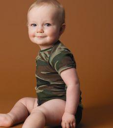4403 Code V Infant Baby Rib Camouflage Lap Shoulder Creeper