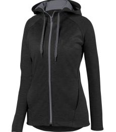 Augusta Sportswear 5558 Women's Zoe Tonal Heather Full Zip Hoodie