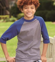 Augusta Sportswear 4421 Youth Three-Quarter Sleeve Baseball Jersey
