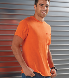 65732 Delta Apparel Adult Short Sleeve 6.0 oz. Pocket Tee