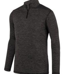 Augusta Sportswear 2956 Youth Intensify Black Heather Quarter-Zip Pullover