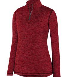 Augusta Sportswear 2957 Women's Intensify Black Heather Quarter-Zip Pullover