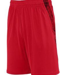 Augusta Sportswear 2961 Youth Intensify Black Heather Training Short