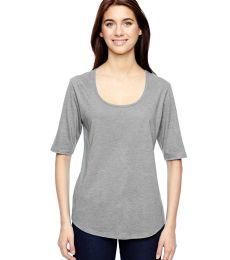 6756L Anvil Ladies' Triblend Deep Scoop Half-Sleeve T-Shirt
