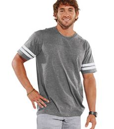 LAT 6937 Adult Fine Jersey Football Tee