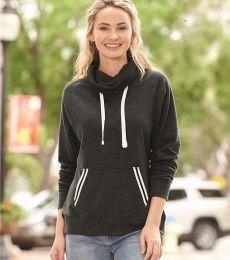 J America 8653 Relay Women's Cowlneck Sweatshirt