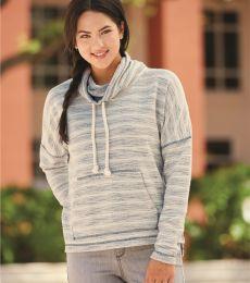 J America 8693 Baja Women's French Terry Cowlneck Pullover
