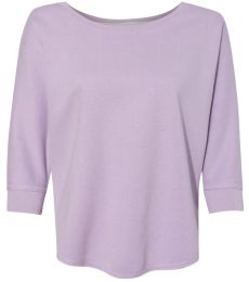 J America 8685 Women's Lounge Fleece Dolman Crewneck Sweatshirt