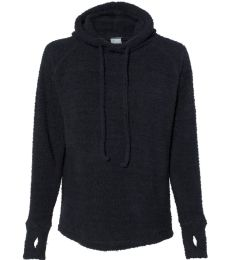 J America 8680 Teddy Fleece Women's Pullover with Scuba Hood