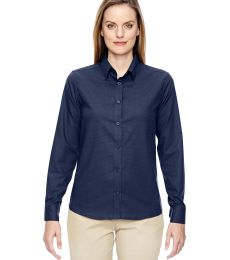 North End 77043 Ladies' Paramount Wrinkle-Resistant Cotton Blend Twill Checkered Shirt