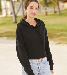 Independent Trading Co. AFX64CRP Women's Lightweight Hooded Pullover Crop Sweatshirt