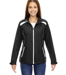 North End 78188 Ladies' Tempo Lightweight Recycled Polyester Jacket with Embossed Print