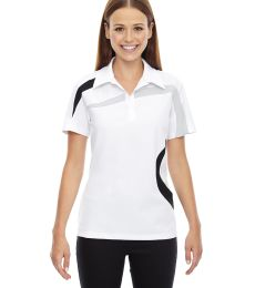 78645 Ash City - North End Sport Red Ladies' Impact Performance Polyester Piqué Colorblock Polo
