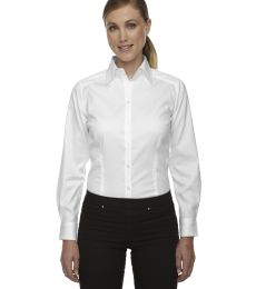 78646 Ash City - North End Sport Red Ladies' Wrinkle-Free Two-Ply 80's Cotton Taped Stripe Jacquard Shirt