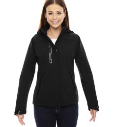 78665 Ash City - North End Sport Red Ladies' Axis Soft Shell Jacket with Print Graphic Accents