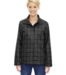 78671 Ash City - North End Sport Blue Ladies' Locale Lightweight City Plaid Jacket