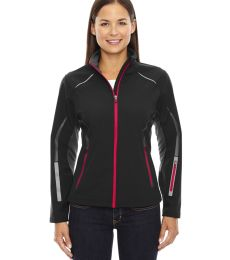 78678 Ash City - North End Sport Red Ladies' Pursuit Three-Layer Light Bonded Hybrid Soft Shell Jacket with Laser Perforation