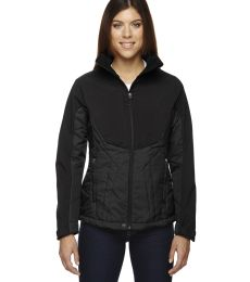 78679 Ash City - North End Sport Red Ladies' Innovate Insulated Hybrid Soft Shell Jacket
