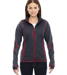 78681 Ash City - North End Sport Red Ladies' Pulse Textured Bonded Fleece Jacket with Print