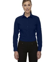 78804 Ash City - North End Sport Red Ladies' Rejuvenate Performance Shirt with Roll-Up Sleeves